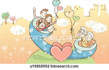 Of Three Generation Family In A Giant Phone U19868992   Search Clipart