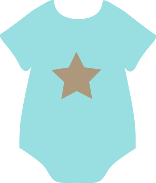Onesie Clip Art   Blue Baby Onesie With A Brown Star  This Onesie
