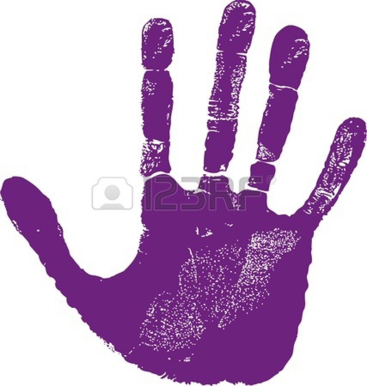 Hand Print Clip Art - Synkee