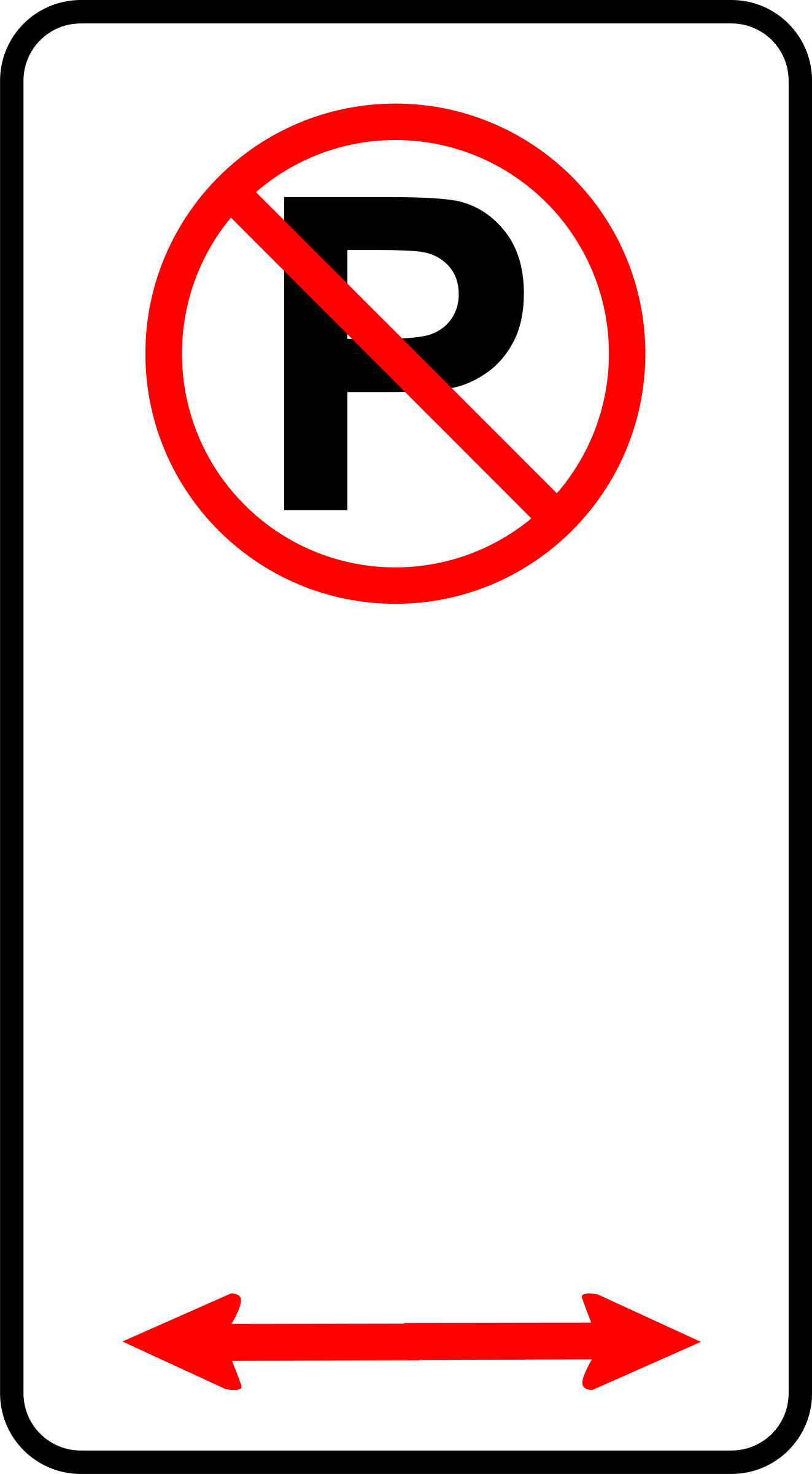 No Parking Sign Clipart - Clipart Suggest