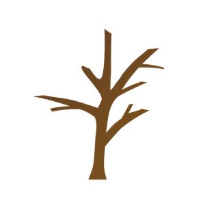 Tree Trunk Clipart Bare Tree