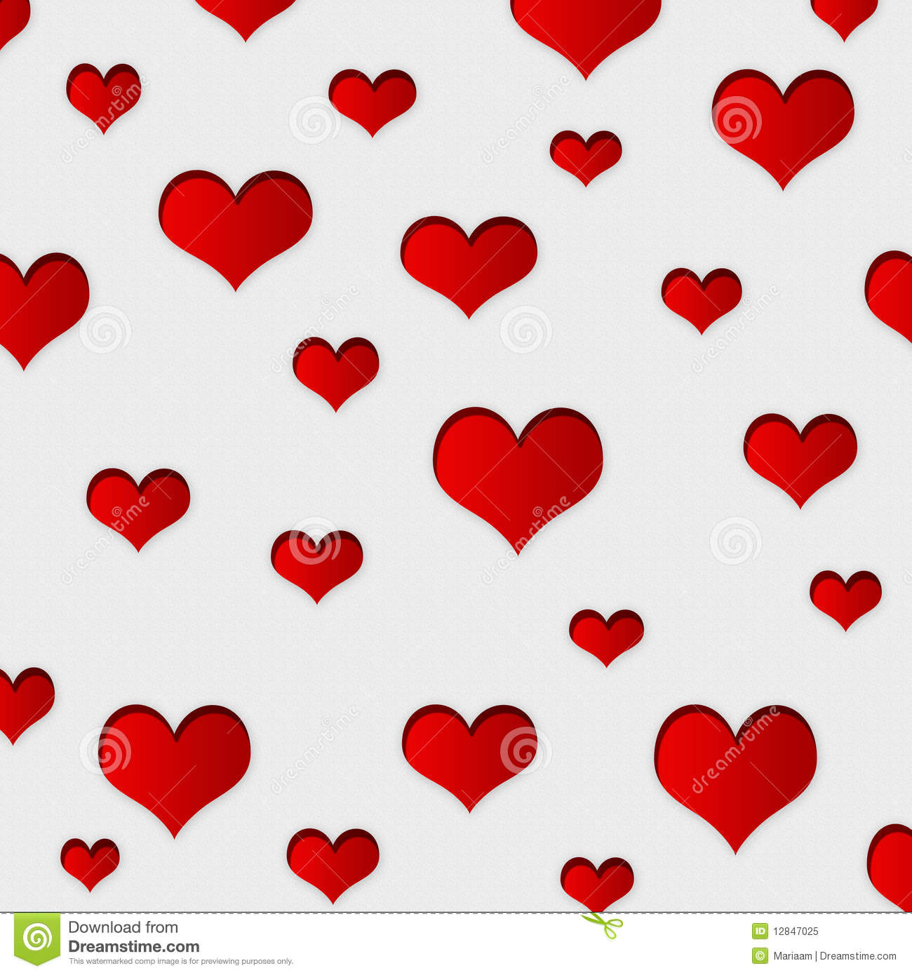 Wallpaper Or Background With Red Hearts  Lovely Design For Wrapping