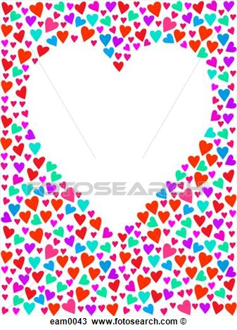 White Heart Surrounded By Tiny Hearts  Fotosearch   Search Clipart