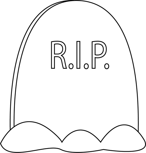 Www Mycutegraphics Com Graphics Halloween Black White Tombstone Html