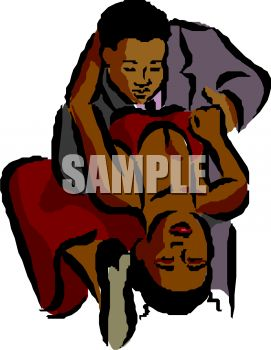 African American Couple Dancing   Royalty Free Clip Art Picture