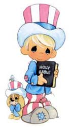 American Boy Holds The Holy Bible