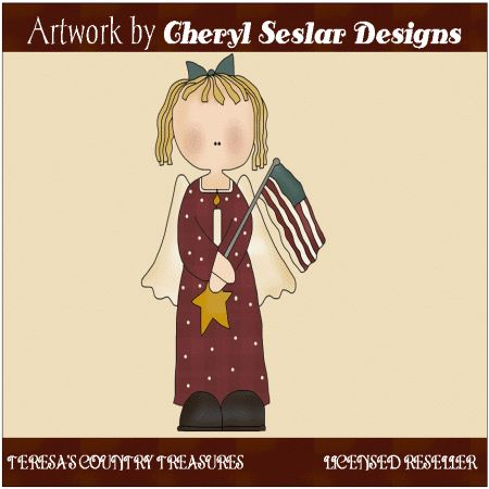 Americana Angel Single Clipart   Clip Art   Pinterest