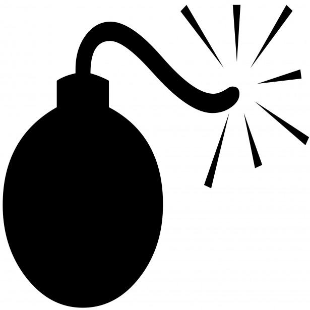 Bomb Silhouette Bomb Silhouette