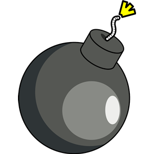 Bomb Silhouette Clipart