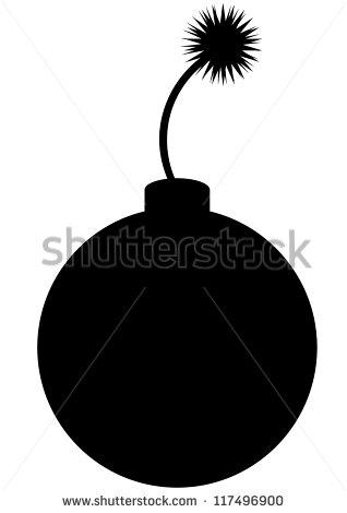 Bomb Silhouette Stock Vector 117496900   Shutterstock
