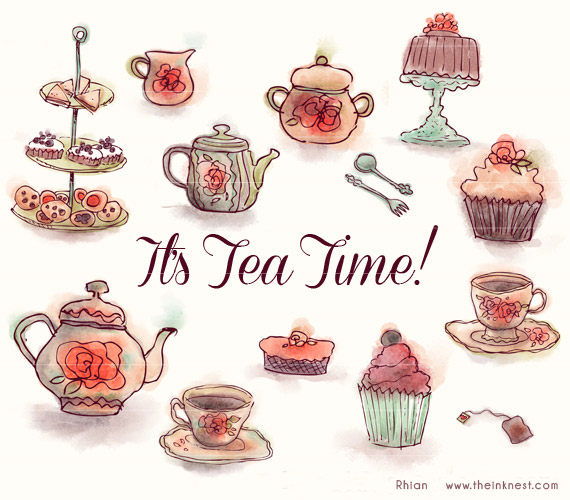 Clip Art Tea Party Clip Art high tea clipart kid clip art it s time for commercial and personal use