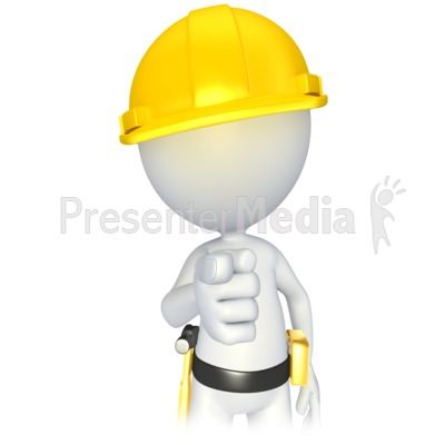 Construction Stick Figure Pointing   3d Figures   Great Clipart For
