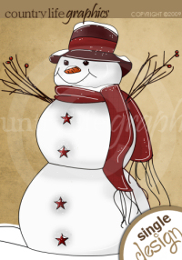Country Christmas Snowman Clipart - Clipart Kid