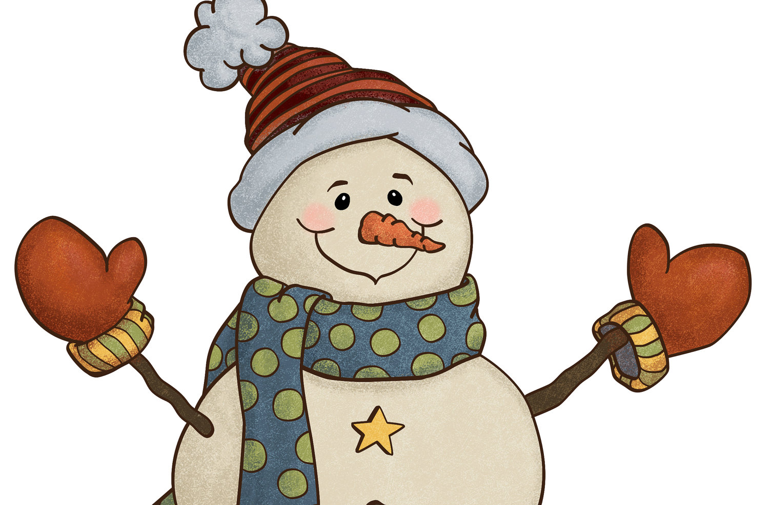 Country Christmas Snowman Clipart - Clipart Suggest