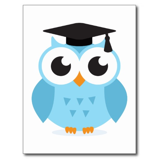 Cute Cartoon Owl Graduate With Mortarboard Postcard   Zazzle