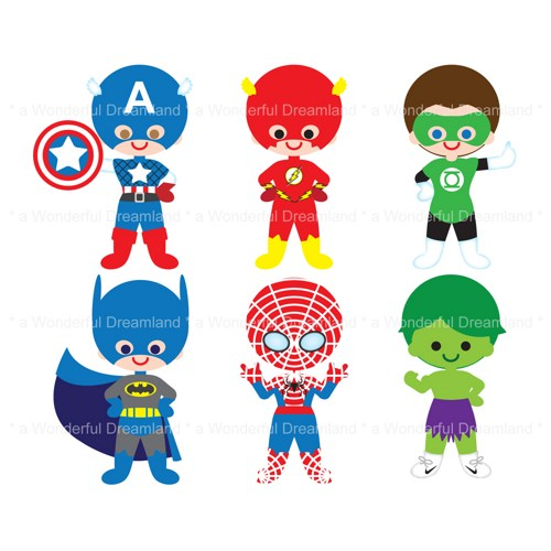 Flash Superhero Clipart Printable Clip Art Digital Pdf