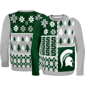 Forever Collectibles Michigan State Spartans Ugly Christmas Sweater