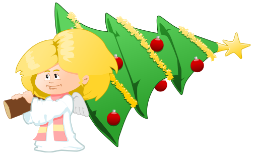 Free Christmas Angels Clipart Graphics Page 2