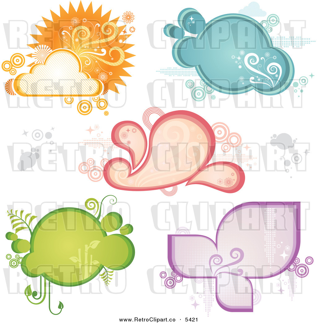 Larger Preview  Vector Clipart Of A Retro Weather And Frames By Amanda