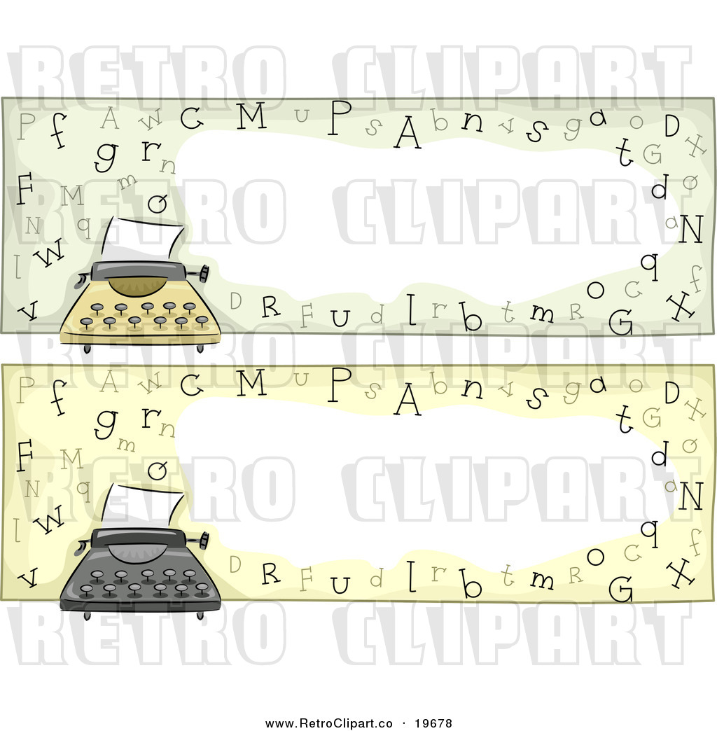 Larger Preview  Vector Clipart Of Typewriter Website Banners With