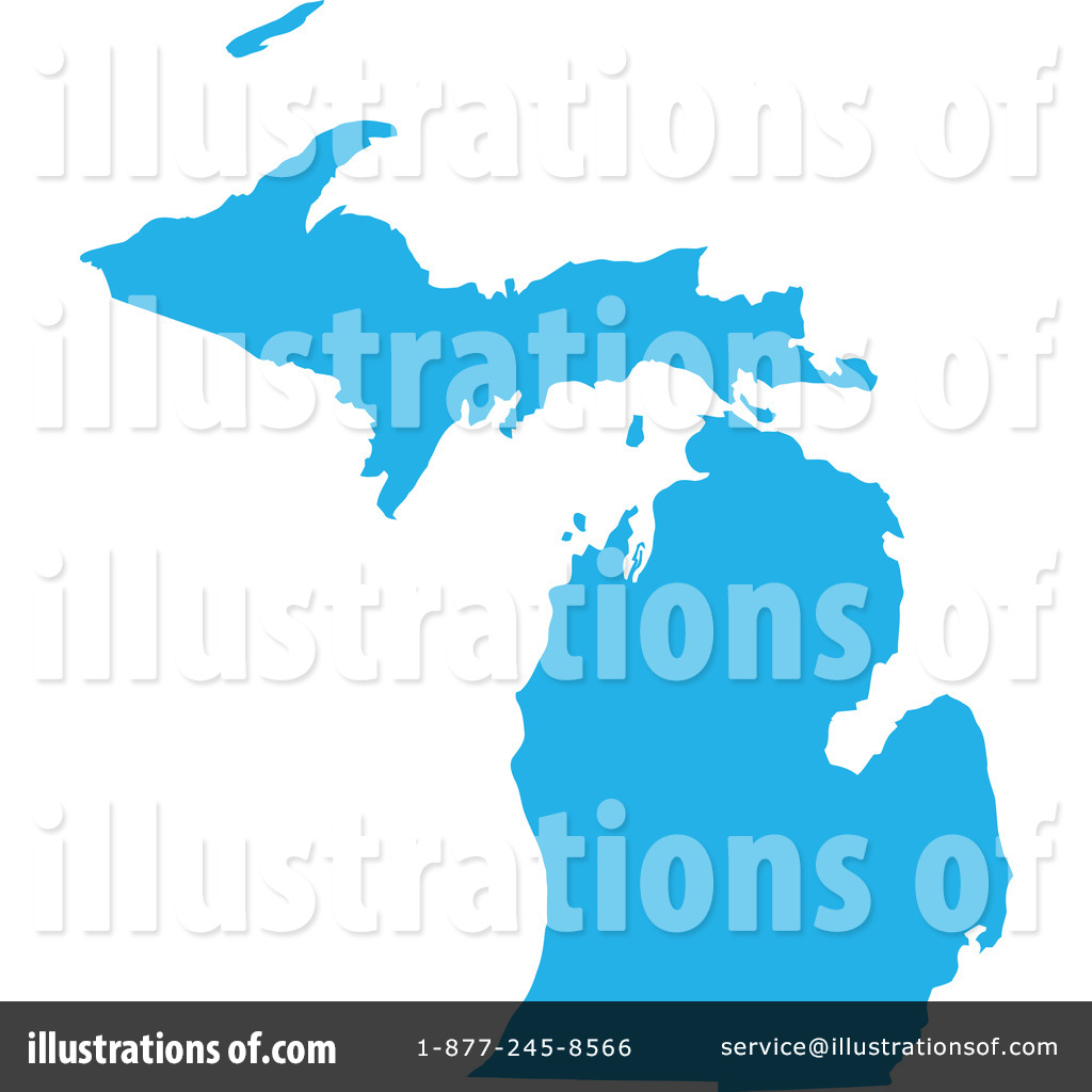 Michigan Clipart  1051763 By Jamers   Royalty Free  Rf  Stock