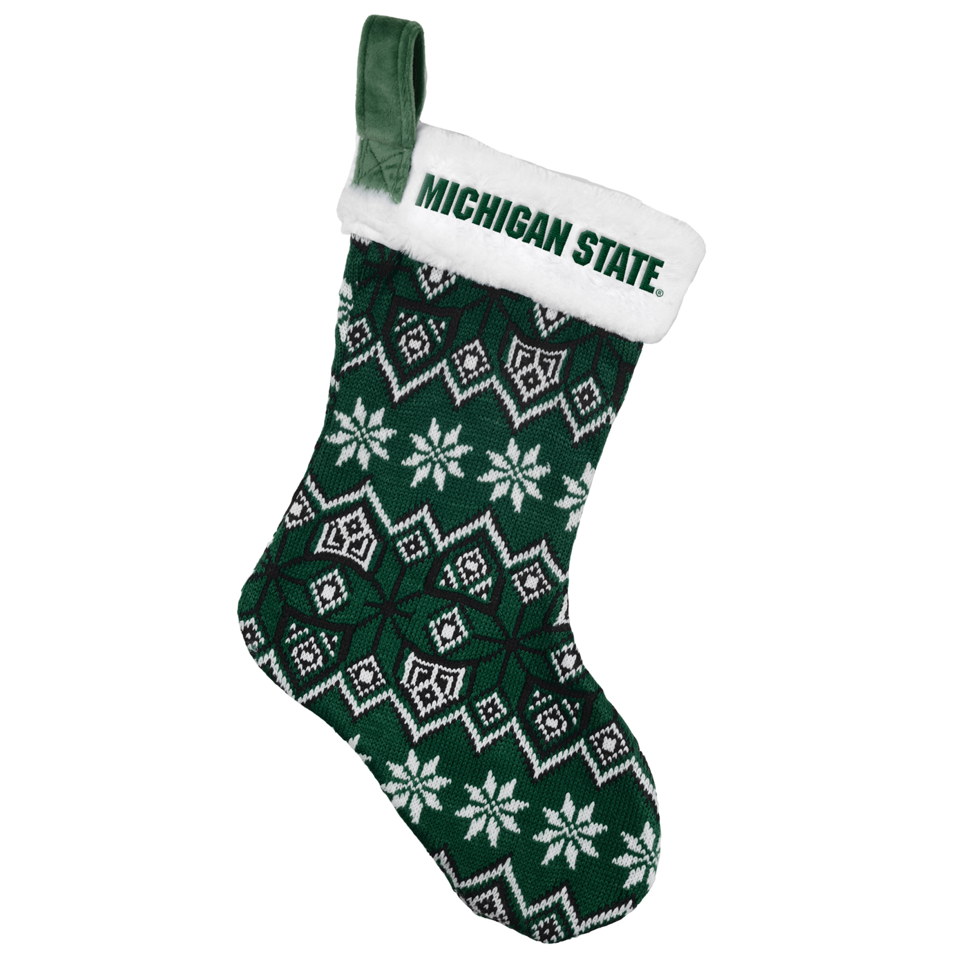 Michigan State Spartans Knit Christmas Stocking