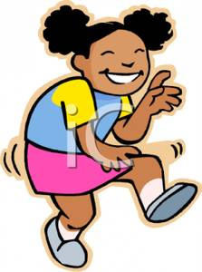 Of An African American Girl Dancing   Royalty Free Clipart Picture