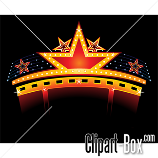 Lighted Marquee Sign Clipart Clipart Suggest