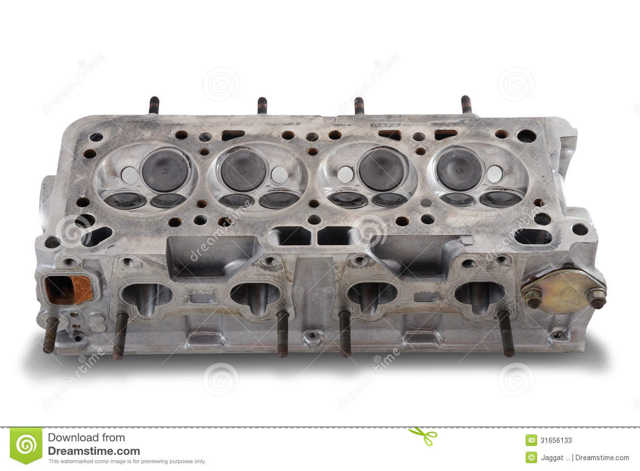 Stock Photos  Four Cylinder Engine Head
