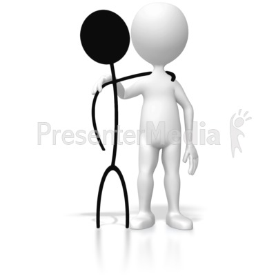 2d 3d Stick Figure Reunion   3d Figures   Great Clipart For