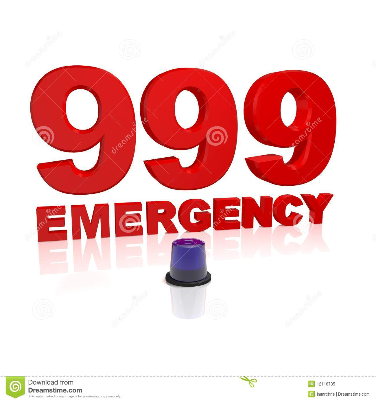 999 Emergency Royalty Free Stock Photo   Image  12116735