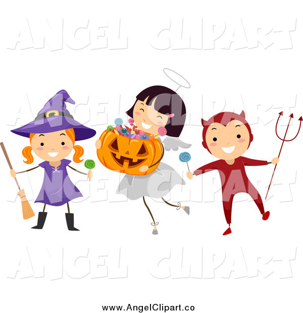 And Devil Halloween Kids Angel Clip Art Bnp Design Studio