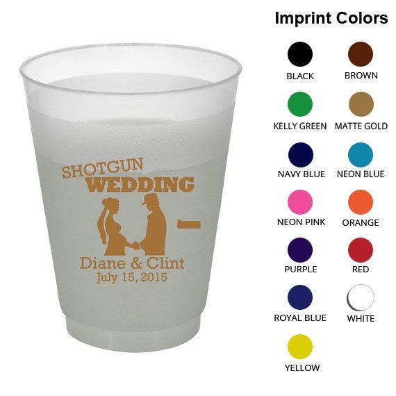 Clipart 1380  Shotgun Wedding   Personalized Wedding Favors   Wedding