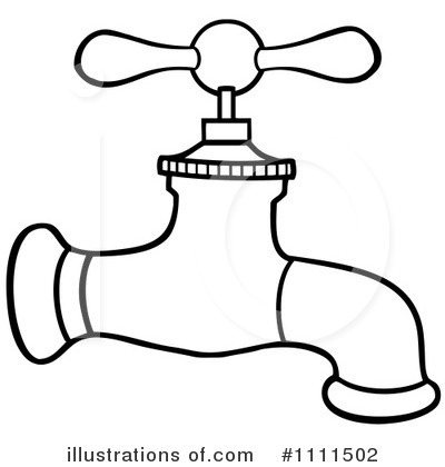 Faucet Clipart  1111502   Illustration By Hit Toon