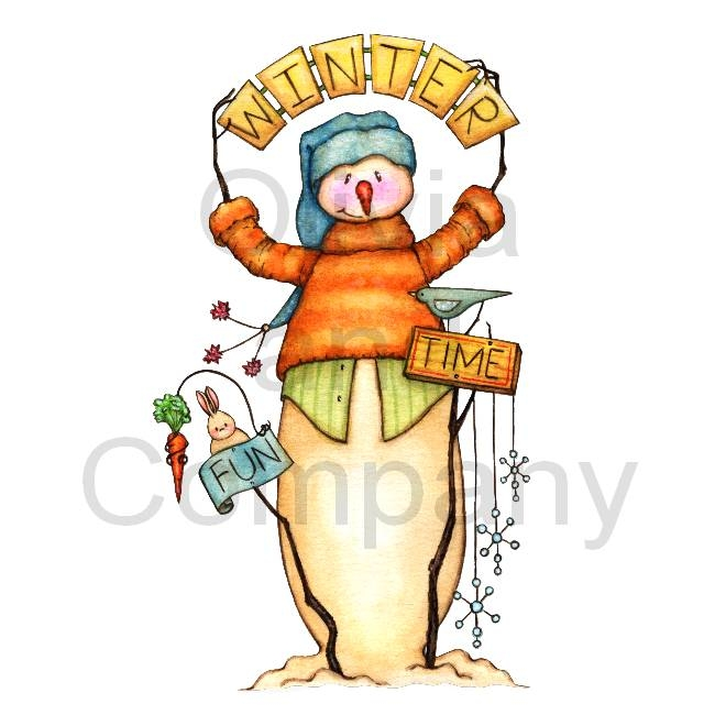 Gallery For   Country Snowman Clipart