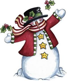 Country Snowman Clipart - Clipart Kid