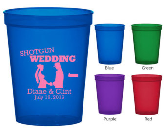 Oz Translucent Cups Clipart 1380 Shotgun Wedding Personalized Wedding