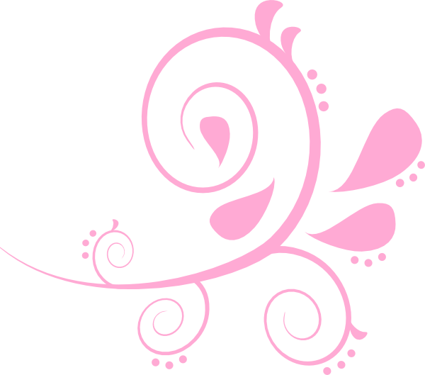 Paisley Curves Bakery Pink Clip Art At Clker Com   Vector Clip Art
