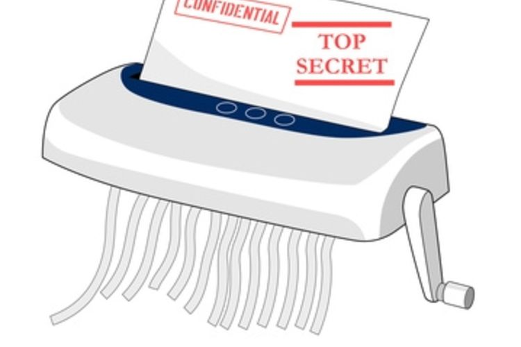 Shredding confidential documents