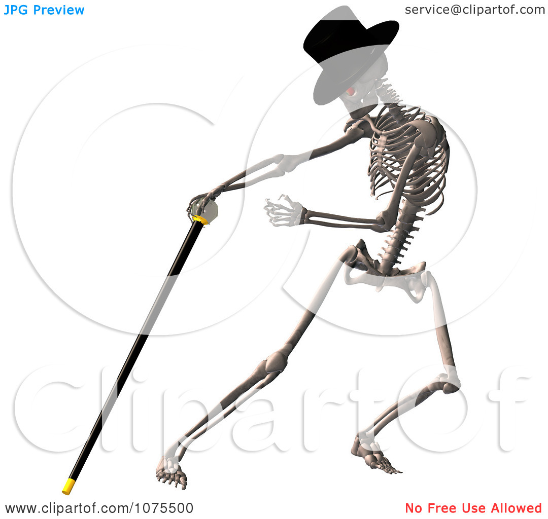 Pin Clipart 3d Skeleton Being Scary Royalty Free Cgi Illustration By