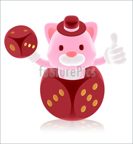 Pink Dice Clip Art Http   Www Featurepics Com Online Pink Cat Showing