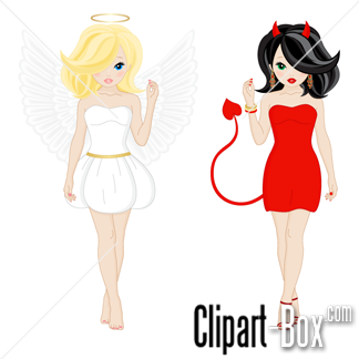 Related Angel And Devil Girls Cliparts