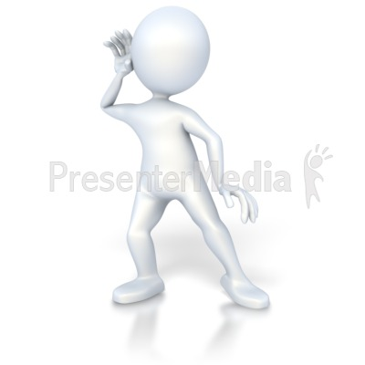 Stick Figure Listen   3d Figures   Great Clipart For Presentations
