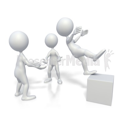 Stick Figure Trust Fall   3d Figures   Great Clipart For Presentations