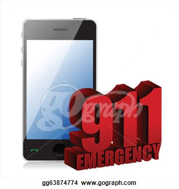 Stock Illustrations   Emergency Phone  Stock Clipart Gg63874774