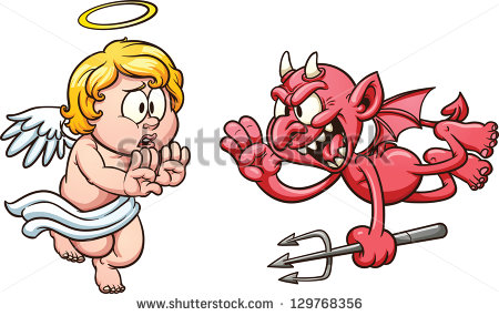 Vector Images Illustrations And Cliparts  Cartoon Angel And Devil