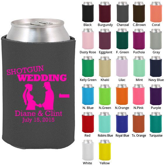 Wedding Koozie  Clipart 1380  Shotgun Wedding   Personalized Koozies