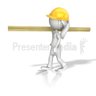 Woman Carpenter Carrying Wood   3d Figures   Great Clipart For