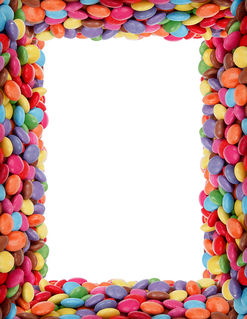 Candy Border Colorful    Page Frames More Frames Food Candy Border