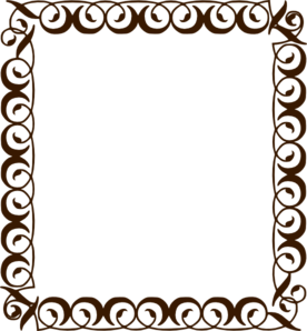 Chocolate Brown Border Clip Art At Clker Com   Vector Clip Art Online